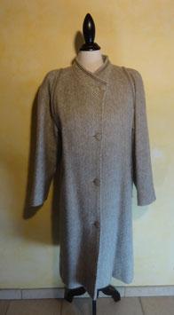Manteau gris en lama 70's T.38