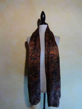 Foulard soie marron 70's