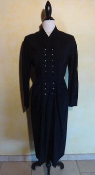 Robe laine noire 80's T.38