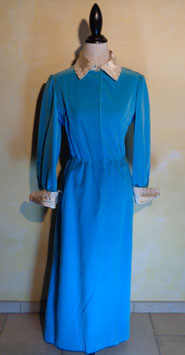 Robe turquoise 60's T.38