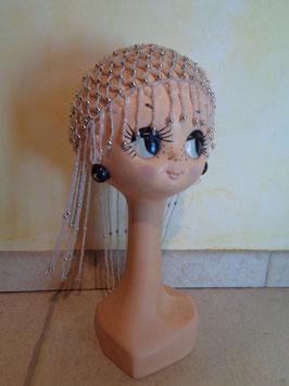 Bonnet perles 70's