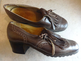 Chaussures cuir 50's P.37