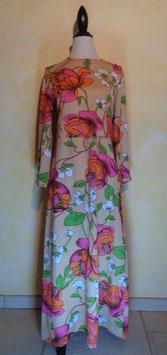 Longue robe poer flower 70's T.38