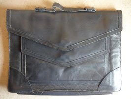 Cartable cuir gris 50's
