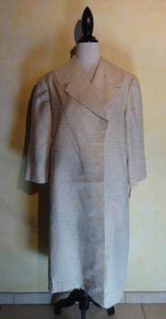 Manteau soie blanche 50's T.40