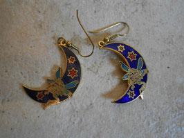 Boucles d'oreille lune