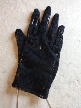 Gants dentelle noire 50's