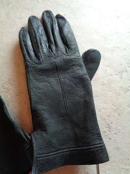 Gants cuir noirs