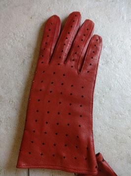 Gants cuir rouges 60's