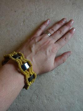 Bracelet perles et magéntites 60's
