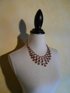 Collier pluie de perles roses