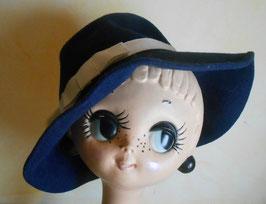 Chapeau bleu et blanc 70's