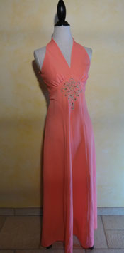 Robe cocktail rose 60's T.36