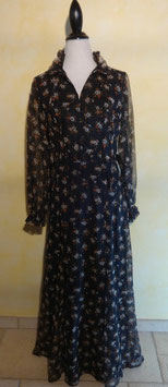 Robe voile fleurie 70's T.38