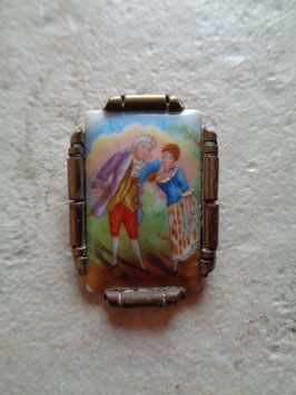 Broche porcelaine 50's