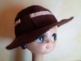 Chapeau feutre de poil marron