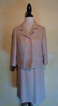 Ensemble carreaux rose 60's T.36
