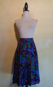 Jupe fleurie 70's T.36