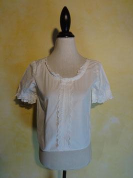 Corsage coton blanc 50's T.36