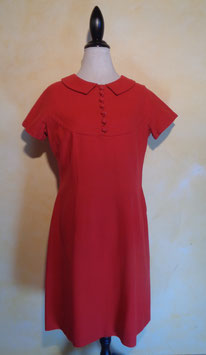 Robe rouge laine 60's T.40