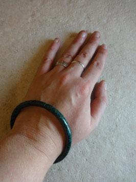 Bracelet cuir serpent vert