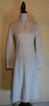 Robe blanche jersey 60's T.38