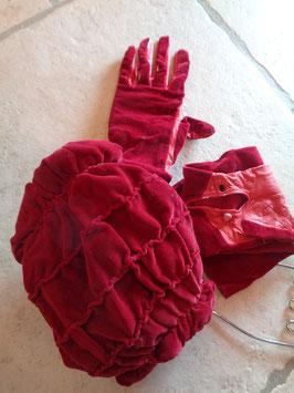 Ensemble gants et manchon 50's