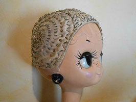 Bonnet perles 30's