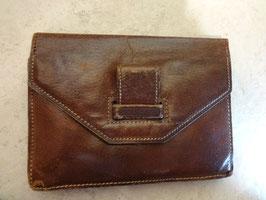 Pochette carrée cuir 70's