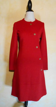 Robe jersey rouge 60's T.36