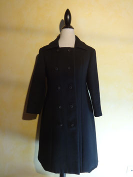 Manteau noir 50's T.36