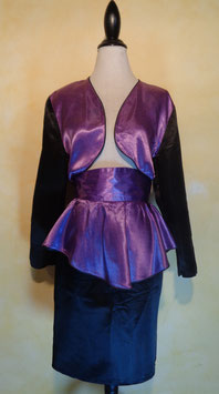 Ensemble satin 80's T.40