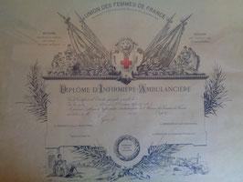 Diplôme d'infirmière seconde guerre mondiale