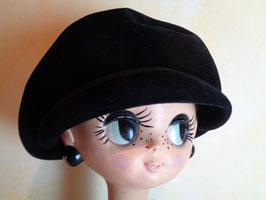 Béret casquette noir