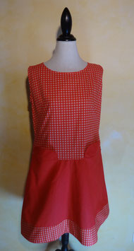 Robe coton rouge 60's T.40