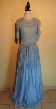 Robe tulle bleu 1900 T.38