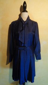 Robe lavallière bleue 70's T.38