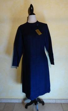 Robe bleue laine 60's T.40