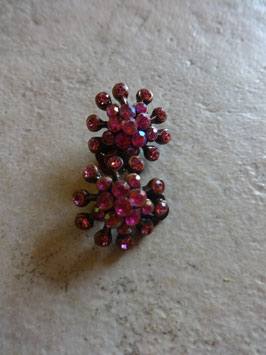 Boucles d'oreille strass roses