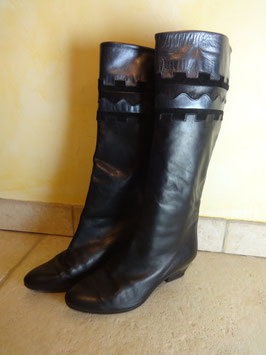 Bottes cuir et peau 80's P.37
