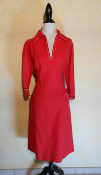 Robe laine rouge 70's T.40
