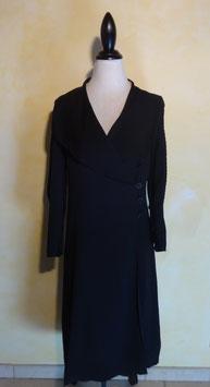 Manteau en crêpe noir 40's T.36-38