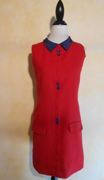 Robe rouge preppy 60's T.38