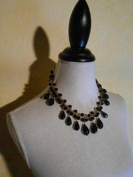 Collier pluie de perles noires