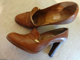 Chaussures cuir  50's P.38