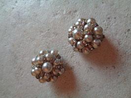 Clips perles et strass