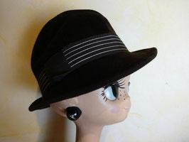 Chapeau bandeau rayé 70's