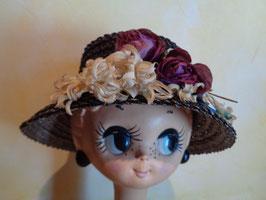 Chapeau paille à fleurs