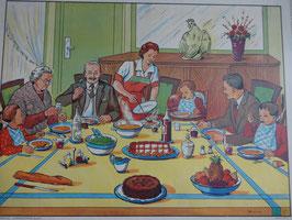 """Affiche pédagogique MDI """"à table/la veillée"""""""