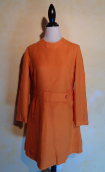 Robe laine orange 60's T.36